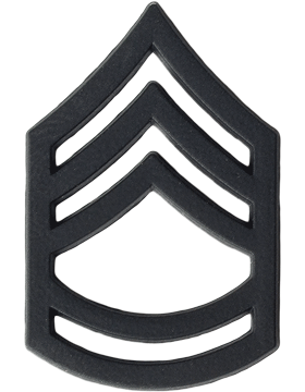 Black Metal Rank BM-107 Sergeant First Class (E-7)