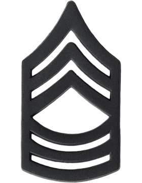Black Metal Rank BM-108 Master Sergeant (E-8)
