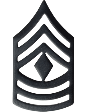 Black Metal Rank BM-109 First Sergeant (E-8)