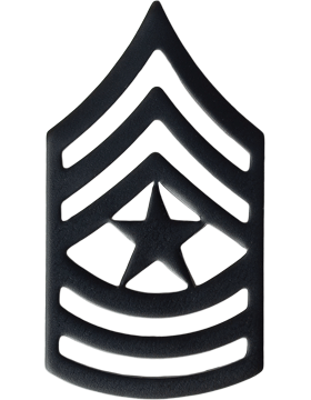 Black Metal Rank BM-110 Sergeant Major (E-9)