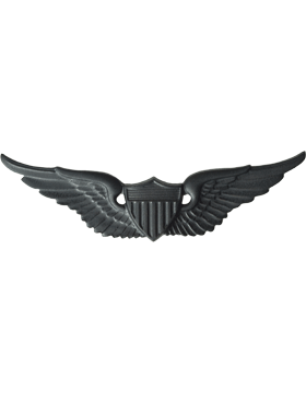 Black Metal Badge Aviator