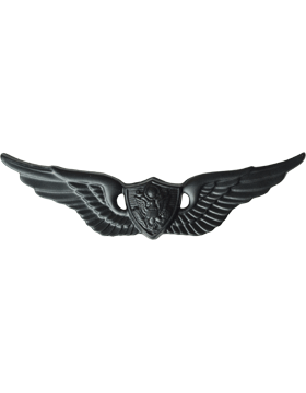 Black Metal Badge Aircraft Crewman