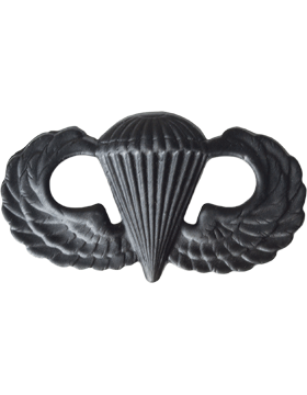 Black Metal Badge Parachutist
