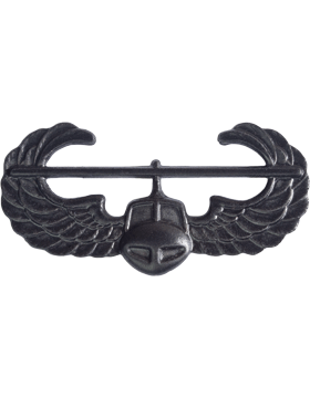 Black Metal Badge Air Assault