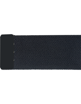 Black Elastic Belt with  Black Tip