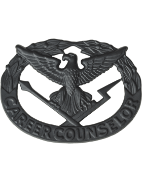 Career Counselor Badge Black Metal