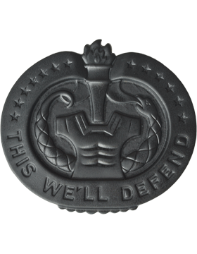 Drill Instructor Badge Black Metal