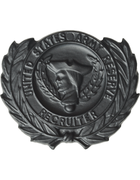 Army Reserve Recruiter Badge Black Metal