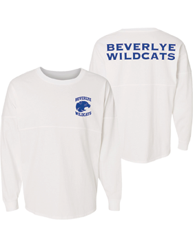 Beverlye Magnet Wildcats Game Day Long Sleeve White Jersey 8229