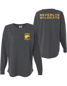 Beverlye Magnet Wildcats Game Day Long Sleeve Charcoal Heather Jersey 8229