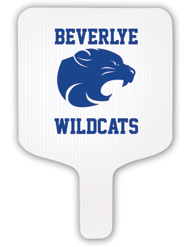 Beverlye Wildcats Hand Fan
