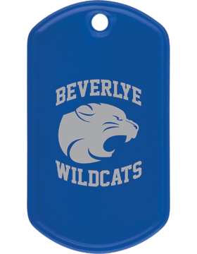 Beverlye Wildcats Royal Blue Dog Tag