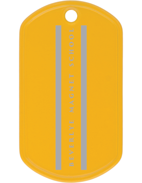 Beverlye Magnet School Gold Dog Tag
