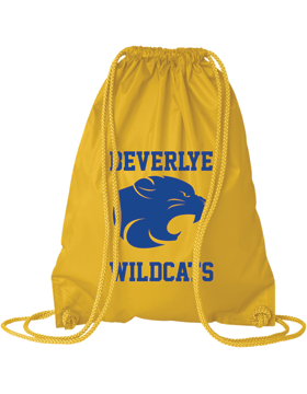 Beverlye Wildcats Bright Yellow Drawstring Pack