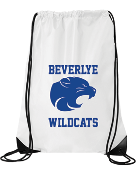 Beverlye Wildcats White Drawstring Pack