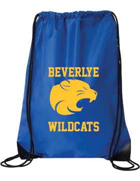 Beverlye Wildcats Royal Blue Drawstring Pack