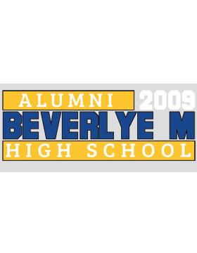 Beverlye Magnet with Year Customizable Alumni Bumper Sticker