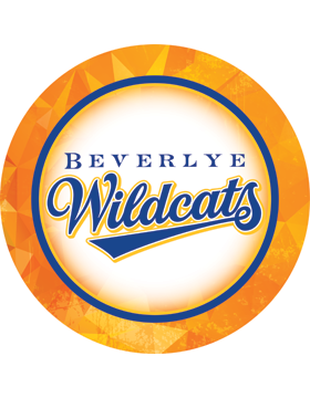 Beverlye Wildcats Gold Circle Decal