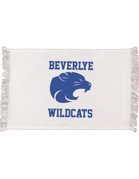 Beverlye Wildcats White Fringed Spirit Towel
