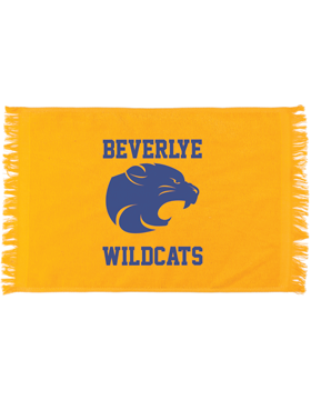 Beverlye Wildcats Gold Fringed Spirit Towel
