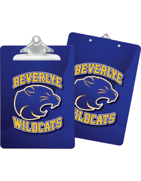 Beverlye Wildcats Clipboard Double Sided with Regular Clip