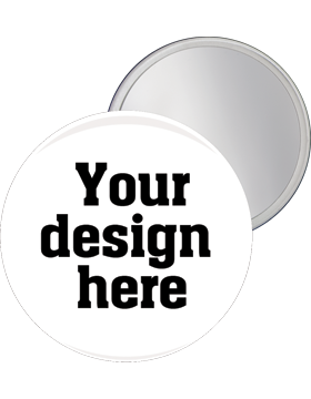 Custom or Stock Design Button 2.25in with Mirror Back (25-49)