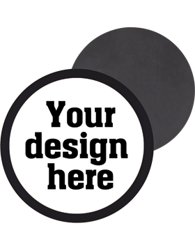 Custom Button Magnet Back with Mylar Ring small