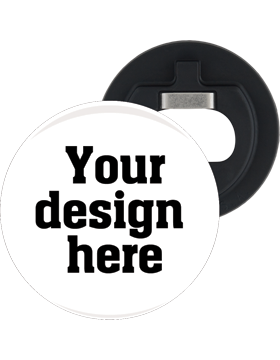 Custom or Stock Design Button 2.25in with Bottle Opener Back (25-49)