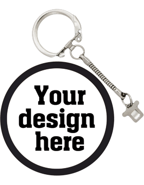 Custom Button Snake Key Chain with Mylar Ring