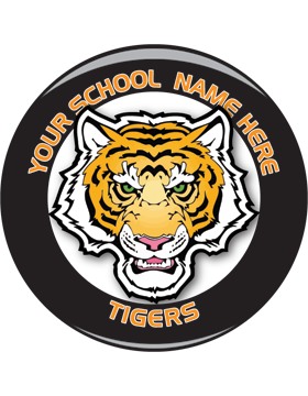 School Spirit Button, Highschool - Tigers, 2.25in