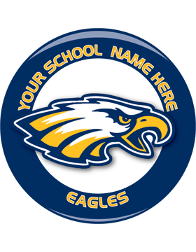 School Spirit Button, Highschool - Eagles, 2.25in Snake Key Chain