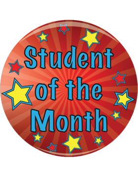 School Spirit Button, Student of the Month, 2.25in