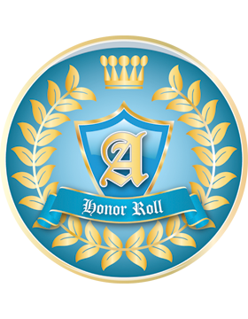 School Spirit Button, Honor Roll, 2.25in