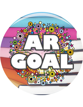 School Spirit Button, AR Goal, 2.25