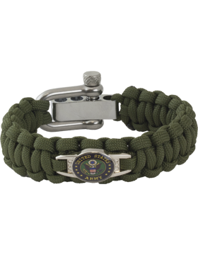 Cobra Weave 550 Paracord Bracelet Adjustable with Army Seal Charm small