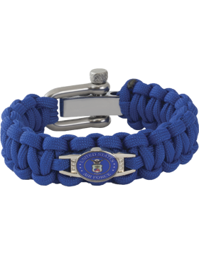 Cobra Weave 550 Paracord Bracelet Adjustable with USAF Seal Charm small