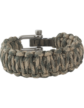 Double Cobra Weave 550 Paracord Bracelet with Adjustable U-Shackle