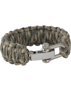 Double Cobra Weave 550 Paracord Bracelet with Adjustable U-Shackle small