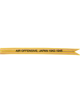 USAF WWII Asiatic Pacific Theater Battle Streamer Air Offensive, Japan 1942-1945