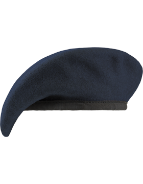 Beret Navy with Nylon Pre Shaped (Unlined)