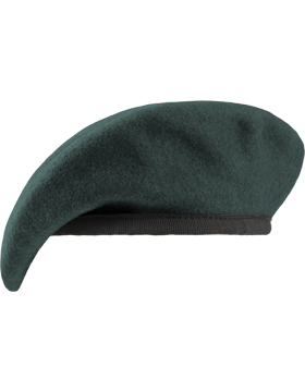 Special Forces Green Unlined Fitted Beret with Nylon Sweatband
