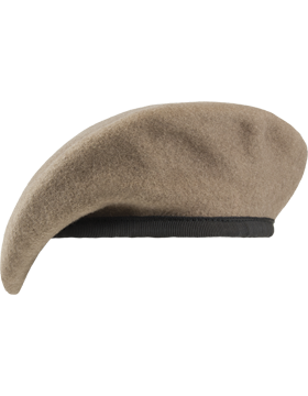 Ranger Tan Unlined Fitted Beret with Nylon Sweatband
