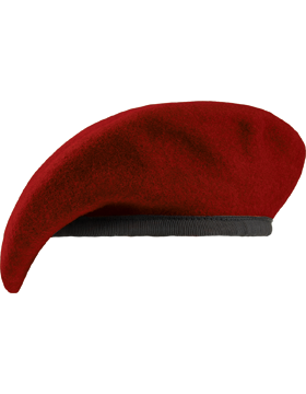 Fitted Berets with Leather Sweatband, Unlined
