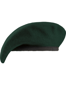 Special Forces Green Unlined Fitted Beret with Leather Sweatband