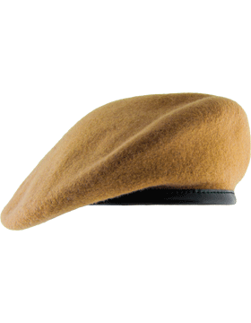 """Light Tan with Leather Sweatband Size 7 7//8/"""" Unlined Beret BT-D15//12"""