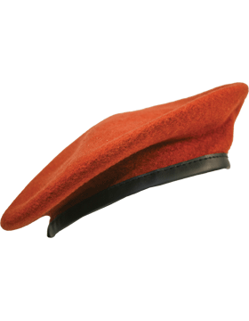 Beret with Leather Sweatband, Lined