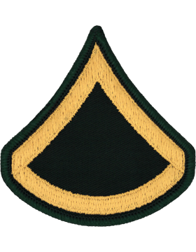 Male Chevron Gold/Green C-102 Private First Class/E-3 (Pair)