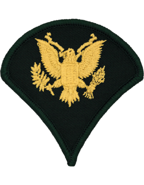 Male Chevron Gold/Green C-104 Specialist Four/E-4 (Pair)