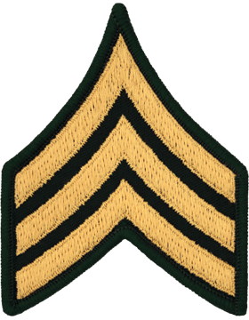 Male Chevron Gold/Green C-105 Sergeant/E-5 (Pair)