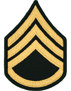 Male Chevron Gold/Green C-106 Staff Sergeant/E-6 (Pair)